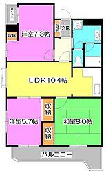 東京都練馬区大泉学園町4丁目の賃貸マンションの間取り