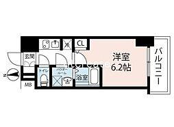 エスレジデンス南堀江(S-RESIDENCE南堀江) 10階1Kの間取り