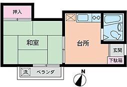 神奈川県横浜市港南区上永谷5丁目の賃貸アパートの間取り