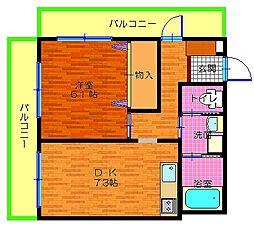リリーフ21敦賀[401号室]の間取り