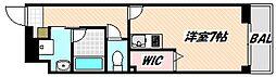 京成本線 海神駅 徒歩7分の賃貸マンション 1階1Kの間取り