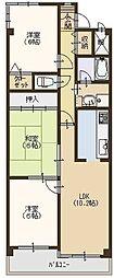 パークサイドナガイ[2階]の間取り