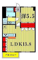 業平橋住宅[414号室]の間取り