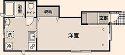 東京都北区上十条3丁目の賃貸アパートの間取り