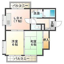 io垂水II[2階]の間取り