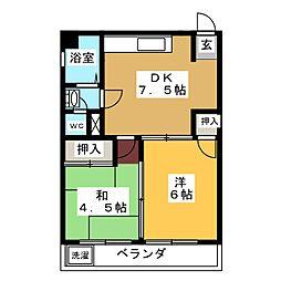 ファミール千代田[5階]の間取り