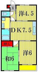 ハニーハイツ5[2階]の間取り