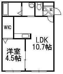 北海道札幌市白石区菊水五条3の賃貸マンションの間取り