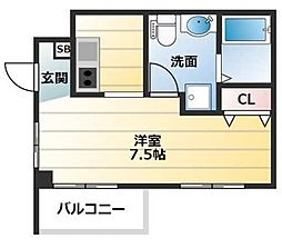 近鉄南大阪線 河内天美駅 徒歩13分の賃貸マンション 1階1Kの間取り