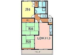 岡崎市 ワンスリーマンション[303号室]の間取り