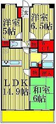 クレサージュ松戸六高台[207号室]の間取り