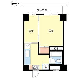 椎山マンション[303号室]の間取り