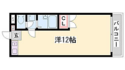 ミワボシビル[11階]の間取り