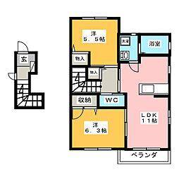 シャーメゾン モレ A棟[2階]の間取り