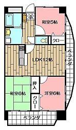 サンシティ小倉東[3階]の間取り