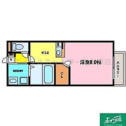 滋賀県大津市皇子が丘1の賃貸アパートの間取り