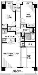日神パレステージ拝島[4階]の間取り