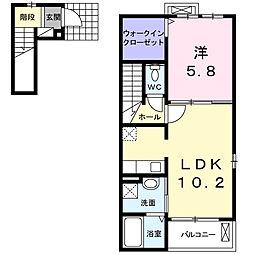 ヴィラKARASAWA C[2階]の間取り