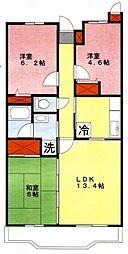 シャルム栄和[2階]の間取り