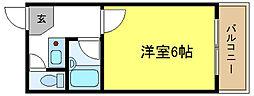 大阪府大阪市平野区平野東2の賃貸マンションの間取り