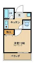兵庫県尼崎市西御園町の賃貸マンションの間取り