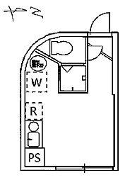 エミネンス加賀[103号室号室]の間取り