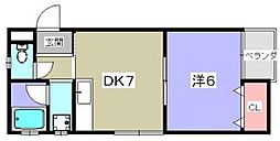 エトワールコーポ[2階]の間取り