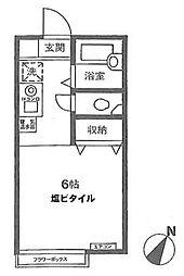 東京都新宿区原町1丁目の賃貸アパートの間取り