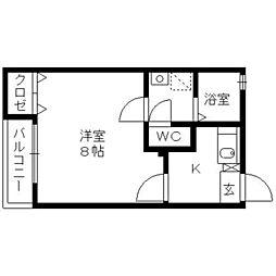 福岡県久留米市南薫西町の賃貸アパートの間取り