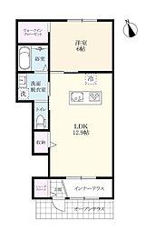 (仮)北方町新築アパート[102号室]の間取り