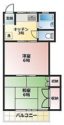 第3小杉コーポ[2階]の間取り