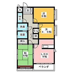 ロアール平出[2階]の間取り