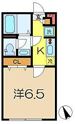 神奈川県横浜市港南区笹下5の賃貸アパートの間取り