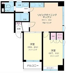 東京都豊島区西池袋1丁目の賃貸マンションの間取り