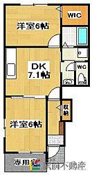 セレノ・カーサ 1階2DKの間取り