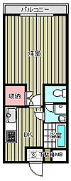 東水南上宿マンション[402号室]の間取り
