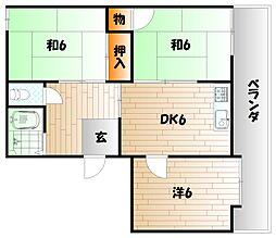 メイゾンオカダB棟[2階]の間取り