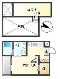 愛知県名古屋市南区道徳新町9丁目の賃貸アパートの間取り