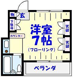三善マンション本八幡[202号室]の間取り