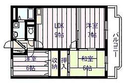 サン ウォーク I[2階]の間取り