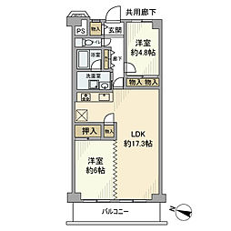 戸田第一スカイハイツ[5階]の間取り