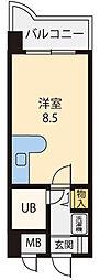 プレリュードMARUOKA[205号室]の間取り