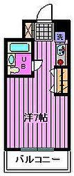 サンライズ鳥海[3階]の間取り