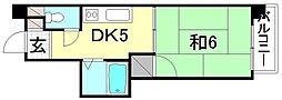 セントラルハイツ(北条)[203 号室号室]の間取り
