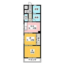 ファミール豊島[1階]の間取り