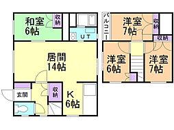 藤野3-11戸建 1階4LDKの間取り