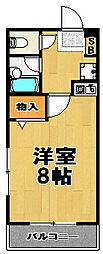 シャルネ酉島[2階]の間取り