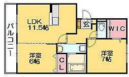 リヴェール21[2階]の間取り