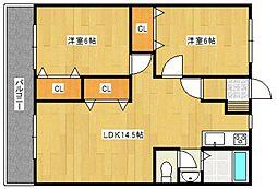 組坂ビル8[5階]の間取り