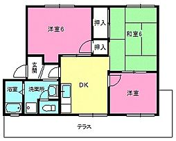 シャトー長谷[1階]の間取り